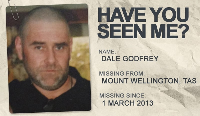 National Missing Persons Week profile graphic - Dale Godfrey