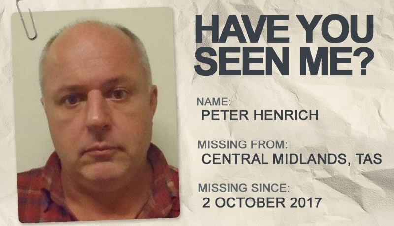 National Missing Persons Week profile graphic - Peter Henrich