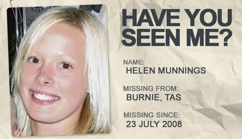 National Missing Persons Week profile graphic - Helen Munnings