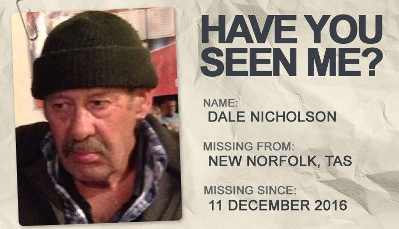 National Missing Persons Week profile graphic - Dale Nicholson