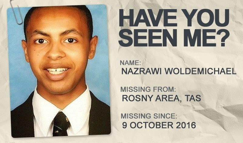 National Missing Persons Week profile graphic - Nazrawi Woldemichael